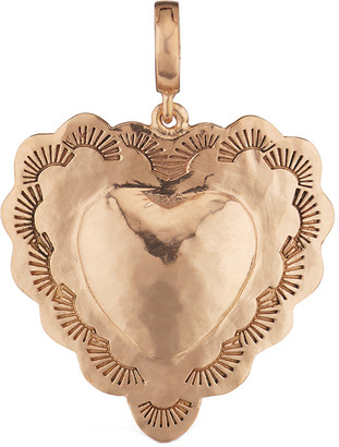 Christina Scalloped Heart Charm, Rose Gold by Alexiou