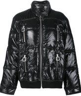 Courreges short puffer jacket - women - Cotton/Nylon/Polyamide/Viscose - 36