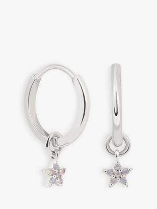 Astrid & Miyu Opal Star Charm Hoop Earrings