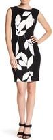 Maggy London Box Jacquard Print Panel Bodycon Dress
