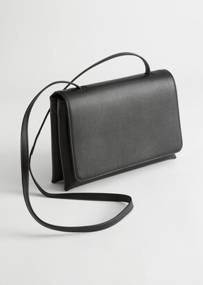 And other stories Flap Closure Leather Crossbody Bag