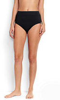 Lands' End Women's High Waist Bikini Bottoms Control-Light Fuchsia