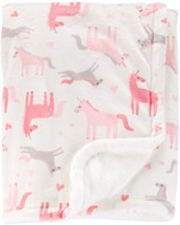 Carter's Baby Girl Plush Unicorn Blanket