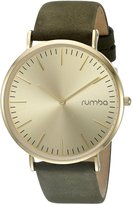 RumbaTime Women's 'SoHo Suede ' Quartz Metal and Leather Suede Casual Watch, Color:Green(Model:22643)