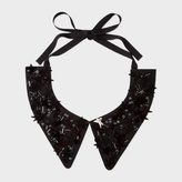 Paul Smith Women's Black Silk Star Embellished Collar