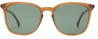 Gucci Logo-inlay Round-lens Acetate Sunglasses - Brown