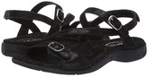 Taos Footwear Beauty 2 (Black Printed Leather) Women's Sandals