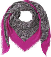 Joe Fresh Women's Contrast Border Scarf, Black (Size O/S)