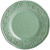 Pier 1 Imports Tuscan Scroll Green Melamine Dinner Plate
