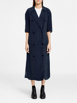 DKNY Pinstripe Maxi Dress