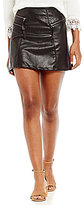 Jolt Faux Leather Quilted Multi-Zip Mini Skirt