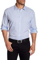 Bugatchi Long Sleeve Print Classic Fit Woven Shirt