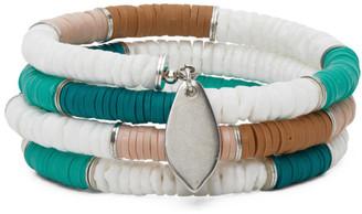 Isabel Marant Green and White Shell Wrap Bracelet