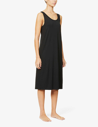 Organic Basics Scoop-neck stretch-woven mini dress