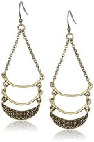Lucky Brand Gold Half Moon Drop Earrings