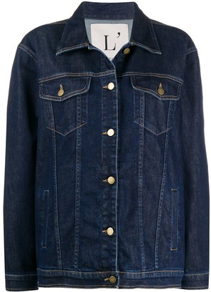 L'Autre Chose Boxy Fit Denim Jacket