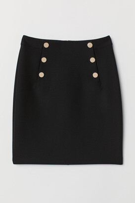 H&M Knee-length Skirt - Black