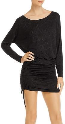 Chaser Drop-Shoulder Ruched Dress