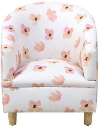 Skyline Furniture Kid's Tub Chair in Floating Petals Pink