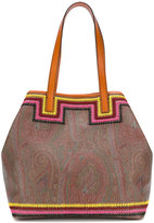Etro paisley and contrast stitch detail bag