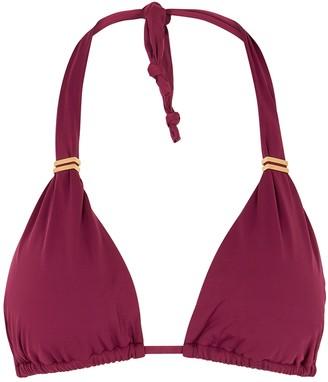 Vix Paula Hermanny Bia bordeaux halterneck bikini top