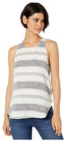 Bella Dahl Textured Stripe Button Side Tank Top (Ecru) Women's Sleeveless