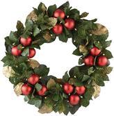 Martha Stewart Living Magnolia and Ornaments Wreath