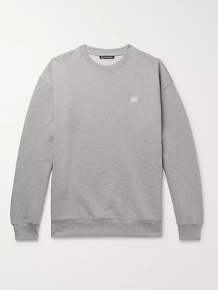 Acne Studios Forba Oversized Logo-Appliqued Loopback Cotton-Jersey Sweatshirt