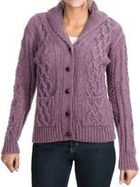 J.G. Glover & CO. Peregrine Aran Shawl Collar Cardigan Sweater - Peruvian Merino Wool (For Women)
