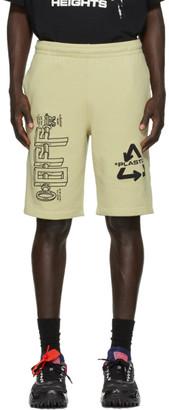 Off-White Off White Beige Universal Key Sweat Shorts