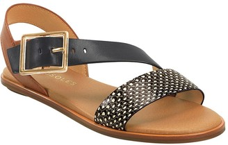 Aerosoles Flat Leather Sandals - Lewis