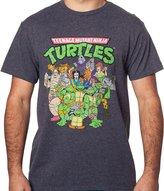 Freeze Men's Teenage Mutant Ninja Turtles Cast T-Shirt 5XL