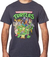Freeze Men's Teenage Mutant Ninja Turtles Cast T-Shirt Heather Gray