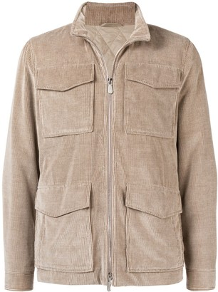 Eleventy slim fit corduroy jacket