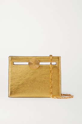 BIENEN-DAVIS Max Mini Metallic Leather Clutch - Gold