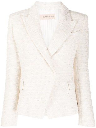 Blanca Vita Tweed Single Breasted Blazer