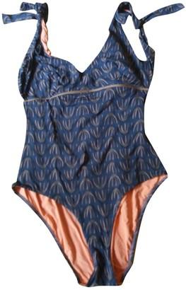 Siyu Brown Cotton - elasthane Swimwear for Women