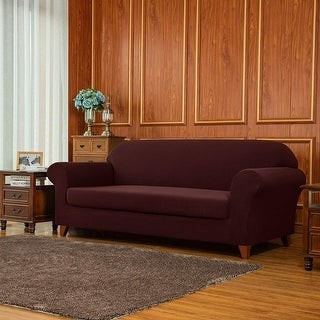 Overstock Subrtex 2-Piece Slipcover Knit Stretch Sofa Cover Furniture Protector