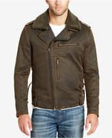 William Rast Men's Faux Fur Lining and Fleece-Collar Jacket