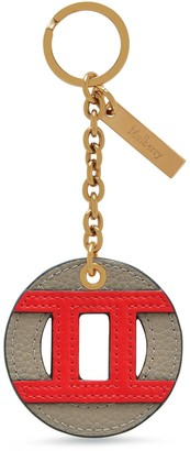 Mulberry Zodiac Keyring - Gemini Solid Grey and Coral Red