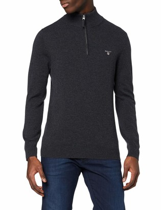 Gant Men's Superfine Lambswool Half-Zip Jumper