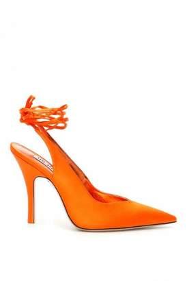 ATTICO Orange Cloth Heels