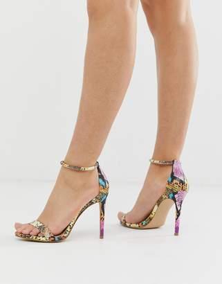 Steve Madden Soph multi snake heeled sandals