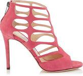 Jimmy Choo REN 100 Red Suede Sandals