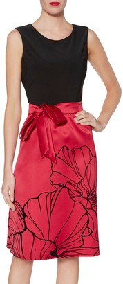 Gina Bacconi Eleanora Satin and Jersey Dress