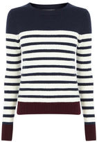 """Oasis Stripe crew with buttons [span class=""""variation_color_heading""""]- Multi[/span]"""