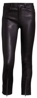 Helmut Lang Zip Cropped Leather Leggings