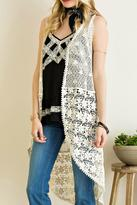 Entro Ivory Crochet Vest