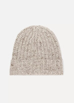 Thumbnail for your product : Johnstons of Elgin Ribbed Donegal Cashmere Beanie - Neutrals