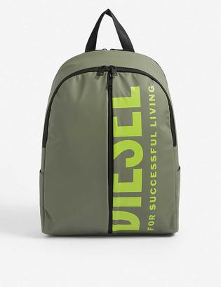Diesel Bold Back III logo-embossed woven backpack